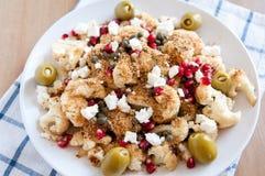 Salad with roasted cauliflower Stock Photos