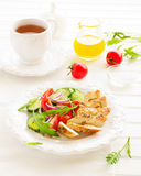 Salad with roasted chicken breast. Stock Photography
