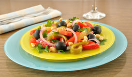 Salad of roasted peppers with tomato Stock Photography