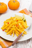 Salad of roasted pumpkin with lime and chilli, vertical Stock Images