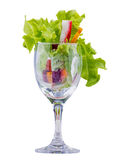 Salad roll cup for dinner Royalty Free Stock Image
