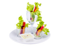 Salad roll cup for dinner Royalty Free Stock Images