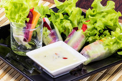 Salad roll for dinner Stock Photo