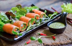Salad roll for healthy food royalty free stock image