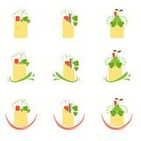 Salad Roll Icons Stock Image