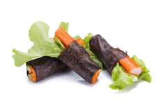 Salad roll vegetables with seaweed wrap. Royalty Free Stock Images