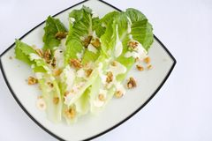 Salad Romaine Lettuce with Ranch Dressing Stock Photo