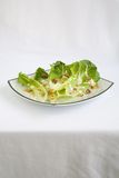 Salad Romaine Lettuce with Ranch Dressing. Salad with Romaine Lettuce, walnuts and Creamy Ranch Dressing Stock Photo