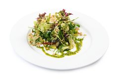 Salad with rucola and pine nuts Stock Photo