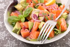 Salad with salmon Royalty Free Stock Photo