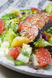 Salad with salmon Stock Image