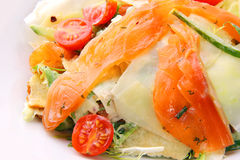 Salad with salmon Stock Photos
