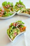 Salad With Salmon And Avocado Stock Image