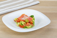 Salad with salmon and avocado Royalty Free Stock Photos