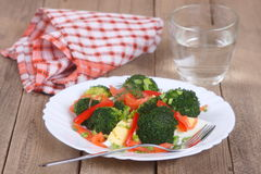 Salad with salmon and broccoli Royalty Free Stock Photography