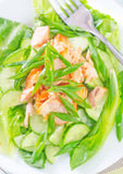 Salad with salmon Royalty Free Stock Photo