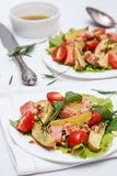 Salad with salmon and potato Royalty Free Stock Image