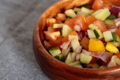 Salad salsa in a bowl Stock Images