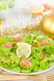 Salad with salted fish Royalty Free Stock Photos