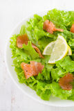Salad with salted fish Royalty Free Stock Photography