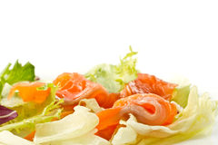 Salad with salted salmon Royalty Free Stock Image
