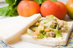 Salad sandwich with tuna Royalty Free Stock Image