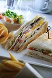 Salad sandwiches Stock Photography
