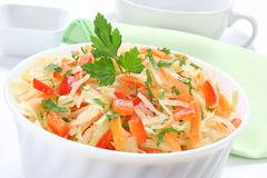 Salad with sauerkraut Stock Image