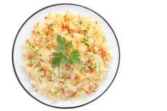 Salad with sauerkraut Stock Photo