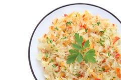 Salad with sauerkraut Royalty Free Stock Photo