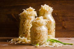 Salad of sauerkraut Stock Images