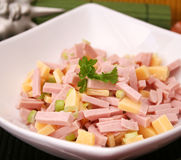 A salad of sausage Stock Images