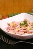 A salad of sausage Stock Photo
