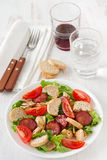 Salad with sausage Stock Images