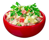 Salad with sausage Royalty Free Stock Image