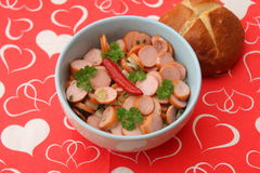 Salad of sausage Royalty Free Stock Photo