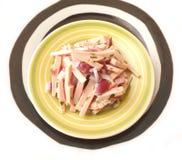 Salad of sausage Stock Photography