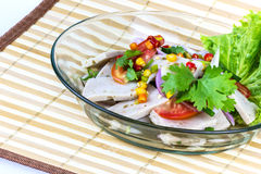 Salad sausage spicy food Stock Images