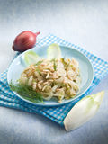 Salad with sauteed endive Royalty Free Stock Photography