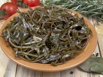 Salad from sea cabbage Stock Photo
