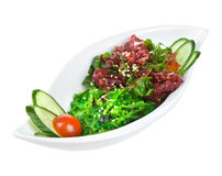 Salad from sea seaweed (chucky) Royalty Free Stock Photo