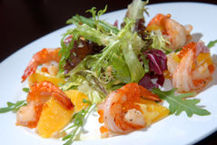 Salad from seafood Stock Image