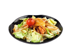 Salad with seafood in japanese style Royalty Free Stock Images