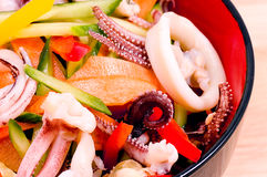 Salad from seafood Royalty Free Stock Photos
