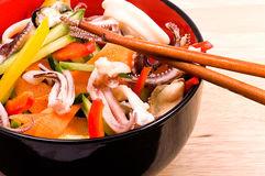 Salad from seafood Royalty Free Stock Photography
