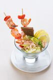 Salad from seafood Stock Photography