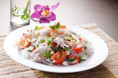 Salad Seafood Thai Style Stock Photos