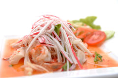Salad Seafood Thai Style Stock Photo