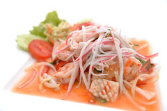Salad Seafood Thai Style Royalty Free Stock Images