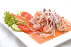Salad Seafood Thai Style Royalty Free Stock Photography